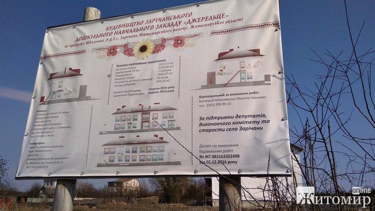 Як виглядає будівництво дошкільного навчального закладу в Зарічанах. ФОТО