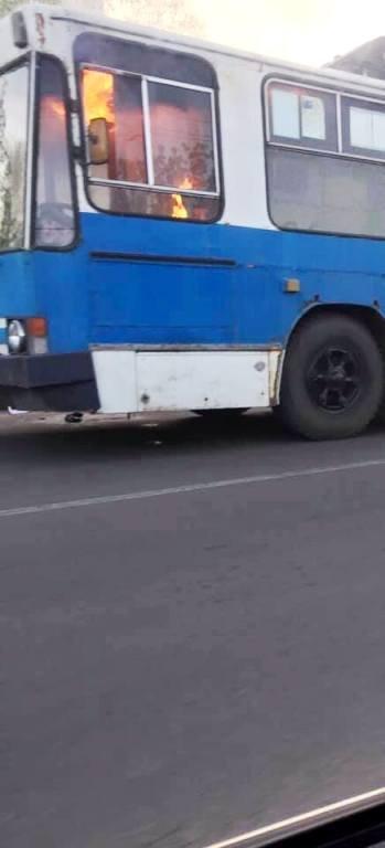 У Житомирі горів тролейбус
