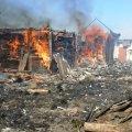 Загоряння сухої трави спровокувало масштабну пожежу в селі на Житомирщині