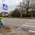 В Житомирі встановлено попереджувальні манекени для підвищення безпеки дорожнього руху