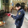 Фахівці Житомирського міського відділу Управління ДСНС перевіряють церкви