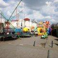 На Михайлівській через встановлені атракціони важко потрапити на сусідню вулицю