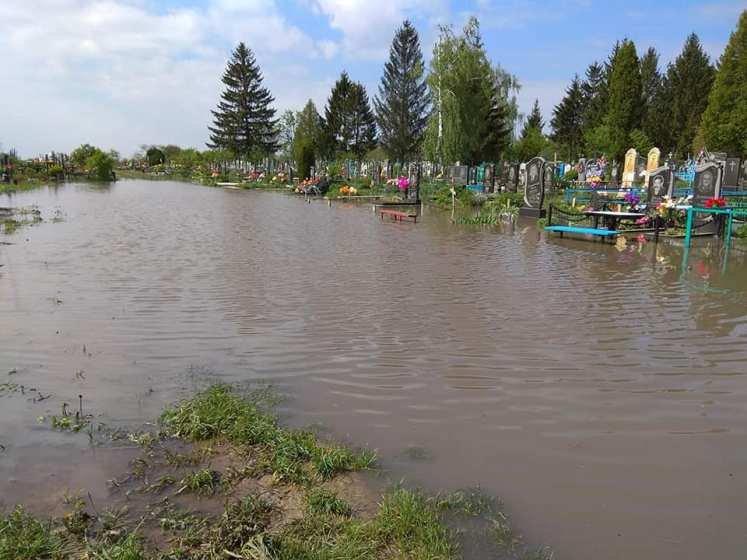 На Бердичівщині затопило кладовище. ФОТО