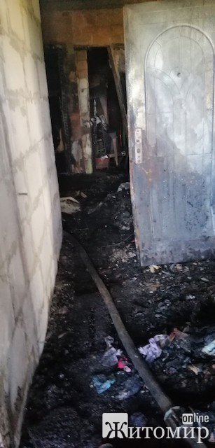 Из-за пожара в Бердичеве люди оказались зажатыми в огненной ловушке. ФОТО