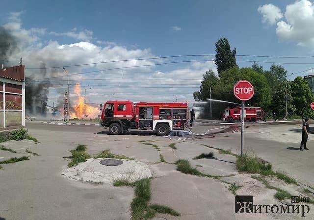 У Житомирі горіла газова заправка. ФОТО. ВІДЕО