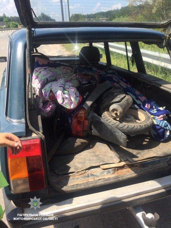 На Житомирщні патрульні знайшли викрадений мопед