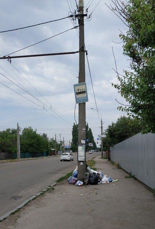 Житомиряни скаржаться на місцевих жителів, які залишають мішки зі сміттям просто на тротуарі. ФОТО