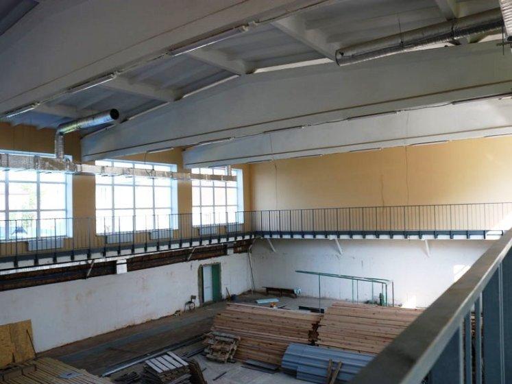 У Радомишлі продовжують внутрішнє оздоблення спорткомплексу «Динамо». ФОТО