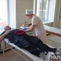 У Житомирі поліцейські спецпризначенці здали кров