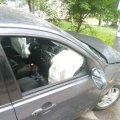 У Житомирі водій таксі з пасажирами потрапив в ДТП. ФОТО