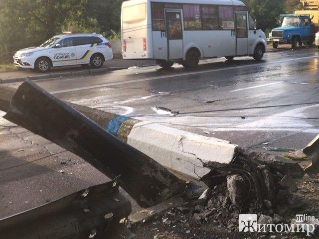 На Чуднівському мосту сталася страшна аварія. ФОТО
