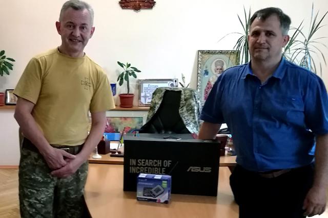 Віктор Развадовський та Спілка учасників АТО і волонтерів Чуднівщини відзначені Подякою Житомирського військового госпіталю