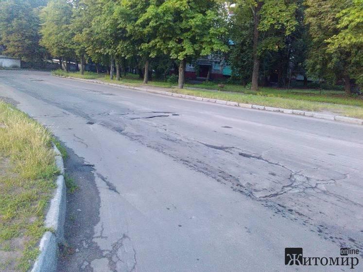 """""""Дорога"""" по вулиці Корольова в Житомирі. ФОТО"""