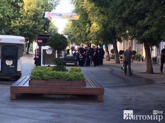 Чому у Житомирі на Михайлівській велика кількість поліції?