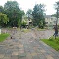 Одинокий сквер на Лятошинського. ФОТО