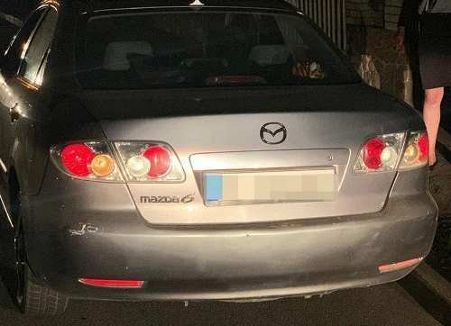 У Житомирі затримали підозрілий автомобіль Mazda 6