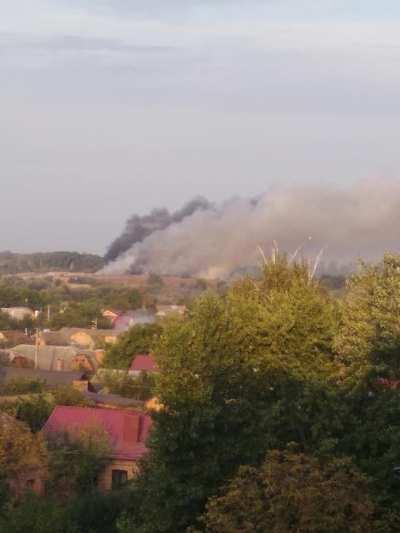 В Бердичеві палає сміттєзвалище. ФОТО