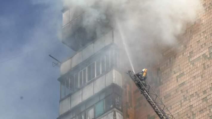 10 вересня, в Житомирі горів балкон квартири на 11-му поверсі в 14-ти поверховому житловому будинку.ФОТО