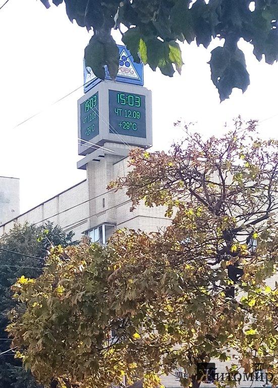 У Житомирі зараз - 29 градусів тепла!