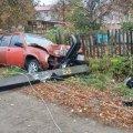 У Малині автівка знесла електроопору. ФОТО