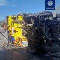 На Житомирщині - знову ДТП з вантажівками. ФОТО