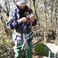 У Радомишльському районі рятувальники вивільнили з криниці цуценя