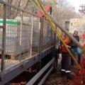 По вулиці Синельнікова в Житомирі вантажівка пошкодила газопровід