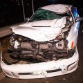 На въезде в Киев Subaru разорвал мужчину, перебегавшего дорогу