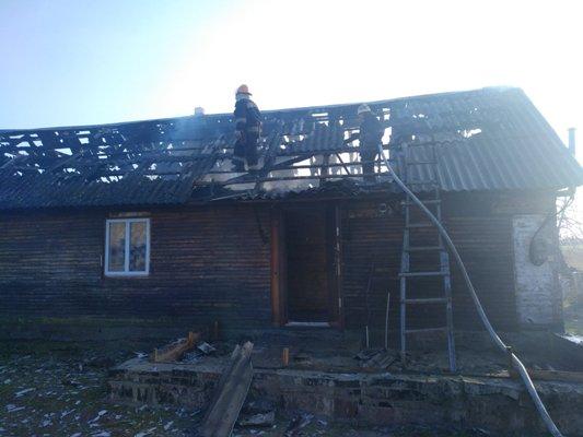 У Баранівському районі мало не згорів житловий  будинок