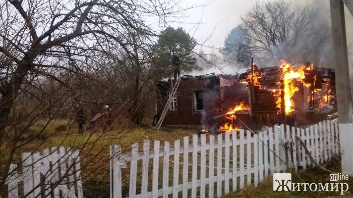 В Овруцькому районі під час пожежі виявлено тіло загиблої жінки. ФОТО