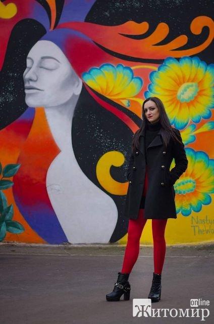 Житомирська художниця-муралістка Анастасія Сладковська: «Будь-який істинний митець, що б він не відчував, в першу чергу, відчуває потребу творити»