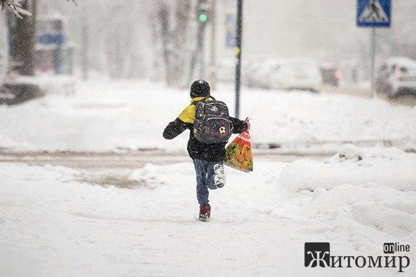 У Житомирі змінили дату шкільних зимових канікул