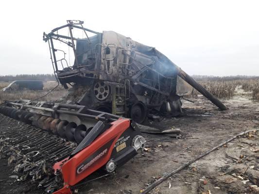 У Коростишівському районі вибухнув комбайн: водій отримав опіки