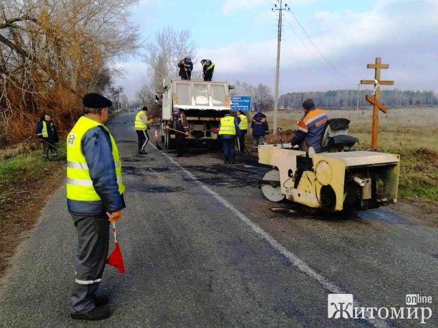 Служба автодоріг звітує про ремонт ділянки на трасі Ставище - Брусилів- Попільня
