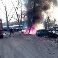 У райцентрі Житомирської області поблизу базару горів автомобіль. ФОТО