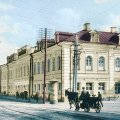 Який вигляд мав один з будинків поблизу міської ради в Житомирі в 20 столітті