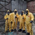 На Житомирщині рятувальники здійснюють перезатарення покинутих пестицидів. ФОТО