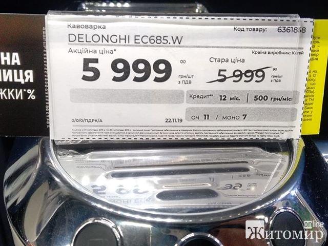 «Чорна п'ятниця» у Житомирі: старі-нові ціни або, як в обласному центрі «розводять» людей