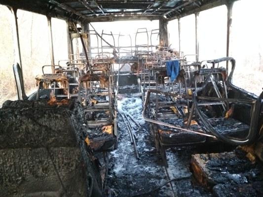 Житомирська область: вогнеборцями ліквідовано загоряння рейсового автобуса. ДЕТАЛІ