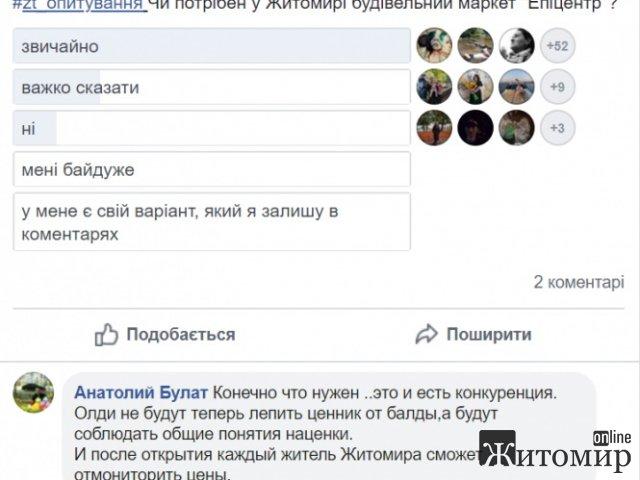 Що думають містяни про будівництво «Епіцентру» в Житомирі