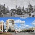Фото майдану Соборного у Житомирі (тоді і зараз)