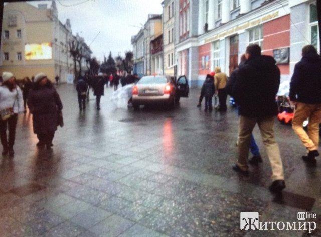 Таксі на Михайлівській в Житомирі. ФОТО
