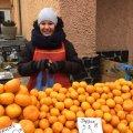 У Житомирі в продажу з'явилися перші грузинські мандарини. ФОТО