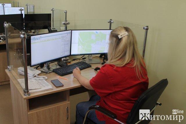 У Житомирі в Центрі екстренної меддопомоги запрацювала диспетчерська служба