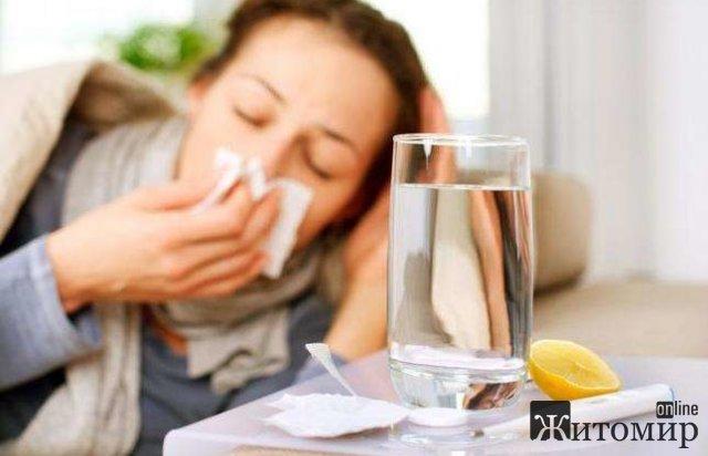 За останні три тижні на Житомирщині зареєстрували 17 випадків захворюваності на грип
