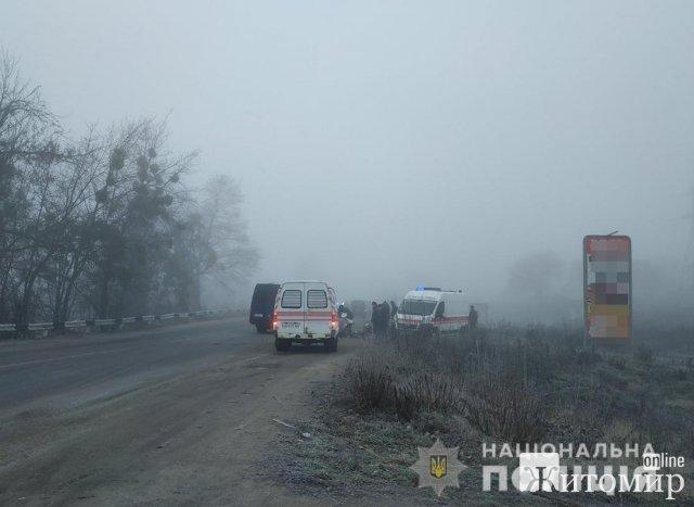 Неподалік Житомира зіштовхнулись два Volkswagen, потерпіли четверо осіб. ФОТО