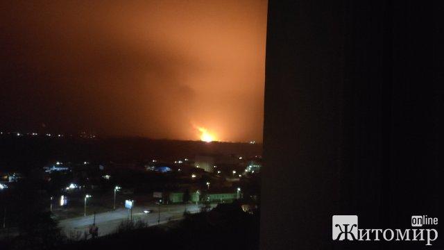 Неподалік Житомира горіло кафе, пожежу було видно з різних мікрорайонів міста
