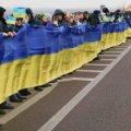 На кордоні Рівненської та Житомирської областей розгорнули 101-метровий прапор
