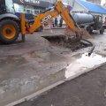 Ремонтні роботи на вулиці Хлібній у Житомирі.ФОТО