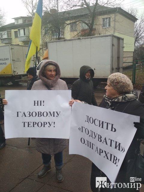 """""""Ні газовому терору!"""" - у Житомирі відбувся пікет проти газового свавілля. ФОТО"""